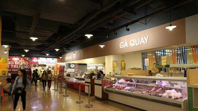 Gian hàng thực phẩm trong siêu thị